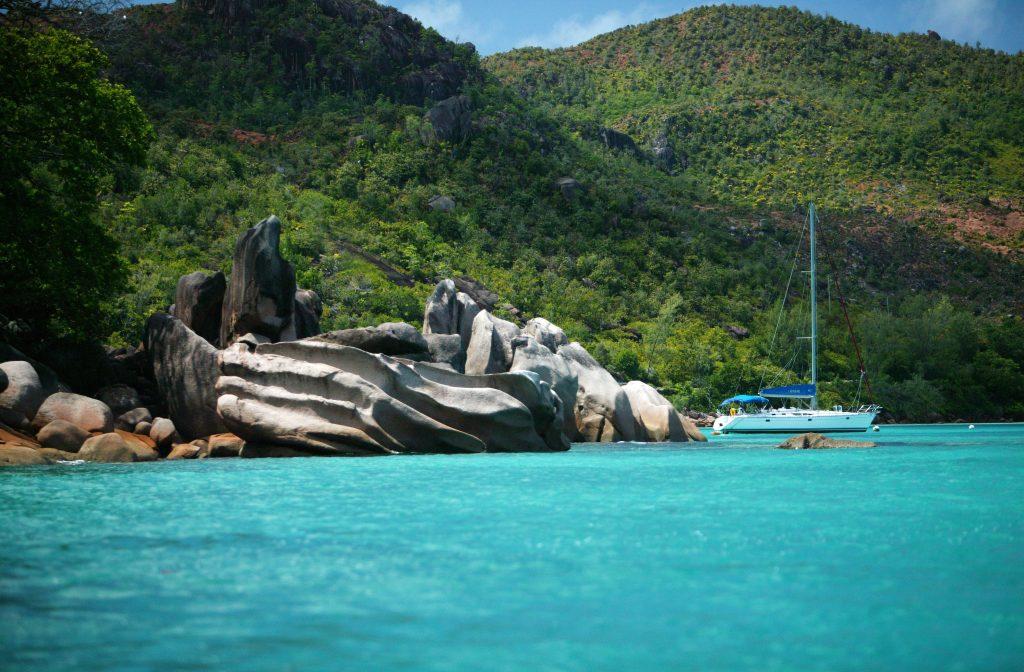 Sunsail, yacht, summer landscape